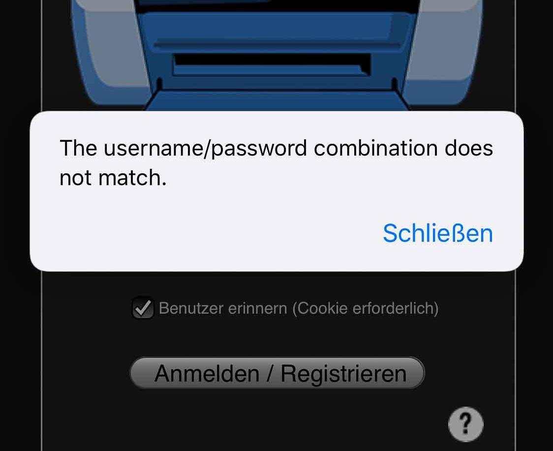Login Passwort Vergessen
